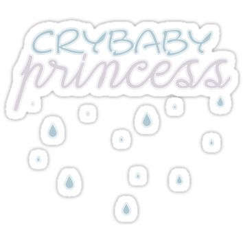 'Crybaby Princess' Sticker by kittenpetal