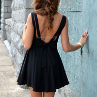 Stonewell Black Crepe Tank Dress