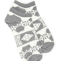 FOREVER 21 Tribal Print Ankle Socks