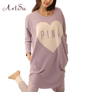 New 2016 Autumn Winter Womens Pajama Sets O-Neck Long Sleeve Women Sleepwear Pajamas Girls Nightgown for Woman 6320