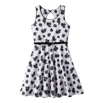 Pinky Los Angeles Floral Skater Dress - Girls 7-16