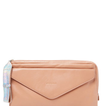 See by Chloe Women's Oversized Leather Clutch - Brown