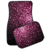 Beautiful Pink glitter sparkles Car Mats Set by PLdesign