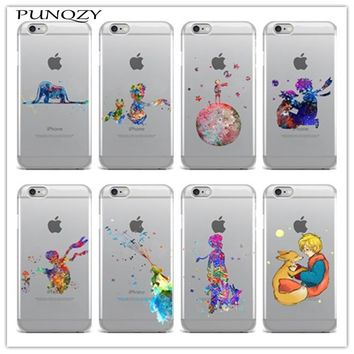 Cartoon The Little Prince The earth space TPU Soft silicone Cover Case For iPhone X iPhone 8 8Plus 6 6S Plus 5 5S SE 7 7 Plus