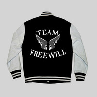 Team Free Will Supernatural Varsity Hoodie