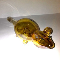 Gold Fumed Mouse Glass Pipe