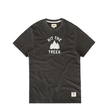 Hit The Trees French Terry Tee Charcoal