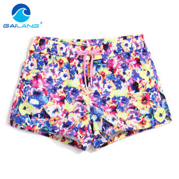 Gailang Brand Women Boxer Trunks Active Casual Beach Shorts Plus Size