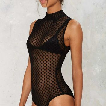Call All the Dots Mesh Bodysuit