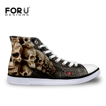 2016 Cool Skull Men shoes Spring Autumn Man's Canvas Shoes Fashion Classic Black Blue Sapatos Masculinos Casual Chaussure Homme