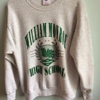 vintage high school crew neck sweatshirt