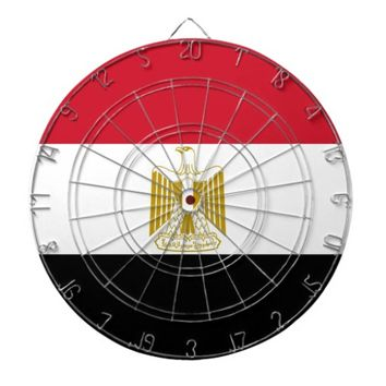 Dartboard with Flag of Egypt