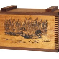 Wood Ammo Box Shotgun Rifle Handgun Gun Hunting Cleaning Supplies Case Duck NEW
