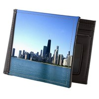 Chicago Skyline Mens Wallet> Chicago Cityscapes> Famous Travels Home Decor