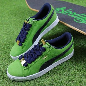 LMFUX5 Puma Suede Classic BBOY Fabulous 50th Green White Black Shoes