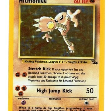 Hitmonlee 7/62 Holo Rare Pokemon Fossil Unlimited Single. Rare Holo NM+