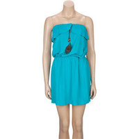 ALI & KRIS Ruffle Ruffle Peacock Tube Dress 204836241 | Dresses | Tillys.com