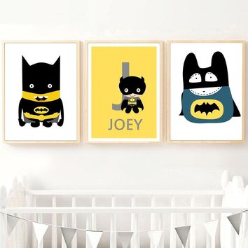 Batman Dark Knight gift Christmas Canvas Painting Posters And Prints Wall Art Nursery Superhero Batman Nordic Style Kids Bedroom Pop Art Baby Girl Room Decoration AT_71_6