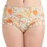 ModCloth Vintage Inspired High Waist Floating in Flowers Swimsuit Bottom