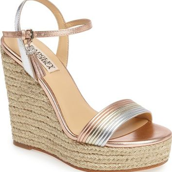 Badgley Mischka Trace Strappy Platform Wedge Sandal (Women) | Nordstrom
