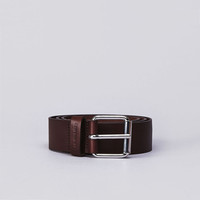 Flatspot - Carhartt Script Leather Belt Brown / Silver Buckle