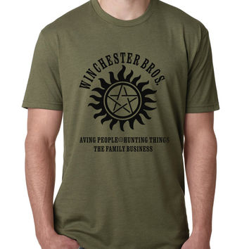 Supernatural Winchester Bros funny brand t-shirt