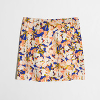 Factory printed cotton sateen mini skirt : Mini & A-Line | J.Crew Factory