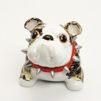 Bulldog Brindle Handmade Coin Box Decoration Crafts Dog lover gifts | madamepomm - Pets on ArtFire