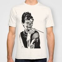 Zombie at Tiffany's T-shirt by Marion Cromb