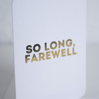 Greeting Card | Crushes - So Long, Farewell