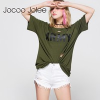 Women Fashion Letter Short Sleeves Summer Casual Loose Brand Long Design Shirts For Lady