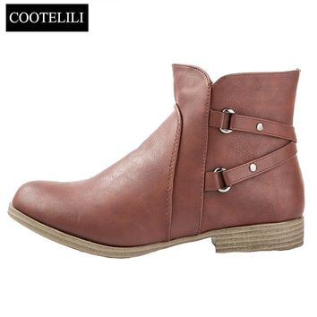 Ankle Boots Heels Soft Leather Boots
