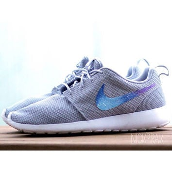 Gray Galaxy Custom Nike Roshe Run One