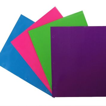 2 Pocket Laminated Folder Neons - CASE OF 48