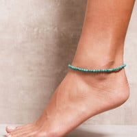 High-Energy Turquoise Anklet