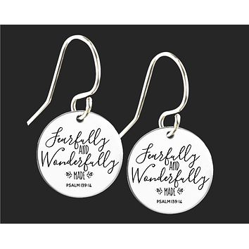 Fearfully and Wonderfully Made Earrings | Psalm 139:14