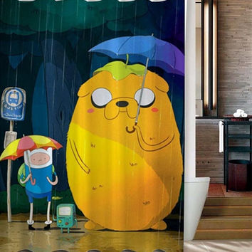 totoro adventure custom shower curtain