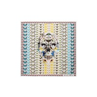 Women Silk twill scarf - Women Damien hirst collaboration on ALEXANDER MCQUEEN Online Store