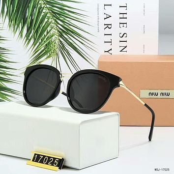 Miu Miu Summer Stylish Ladies Delicate Personality Sun Shades Eyeglasses Glasses Sunglasses Black I-A-SDYJ