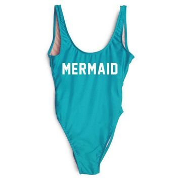 LMFOK2 MERMAID  High Cut One Piece  Swimsuit