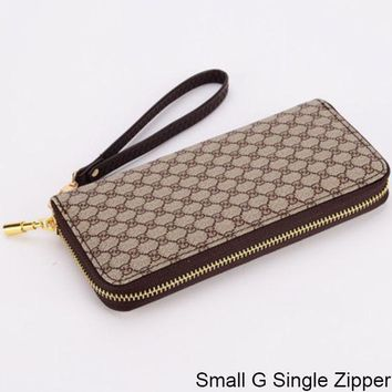 GUCCI Double G Wallet Wallet Multi Card Mobile Phone Bag Small G Single Zipper