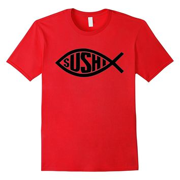 Dicky Ticker Sushi T-shirt Black Fish Japan