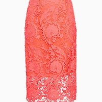 Miguelina EXCLUSIVE Sage Blossom Lace Skirt at INTERMIX | Shop Now | Shop IntermixOnline.com