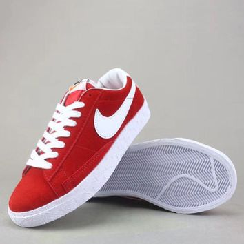 Wmns Nike Blazer Mid Sde Fashion Casual Low-Top Old Skool Shoes-2