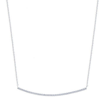 Minimalist Diamond Thin Bar Necklace