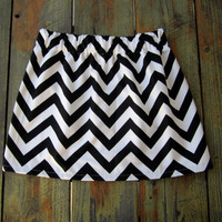 Womens Chevron Skirt - Sizes XS, S & M - A-Line Skirt - You Pick Chevron Color