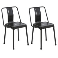 Energy Chairs - Set of 2 Carbon Black