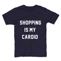 Shopping Is My Cardio, Unisex Graphic Tee