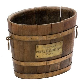 Pre-owned Circa 1950 French Wooden Champagne Bucket