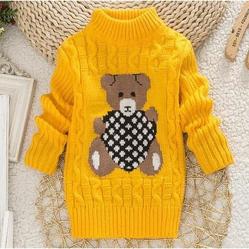 Bear Heart Cable Knit Sweater - Many Colors